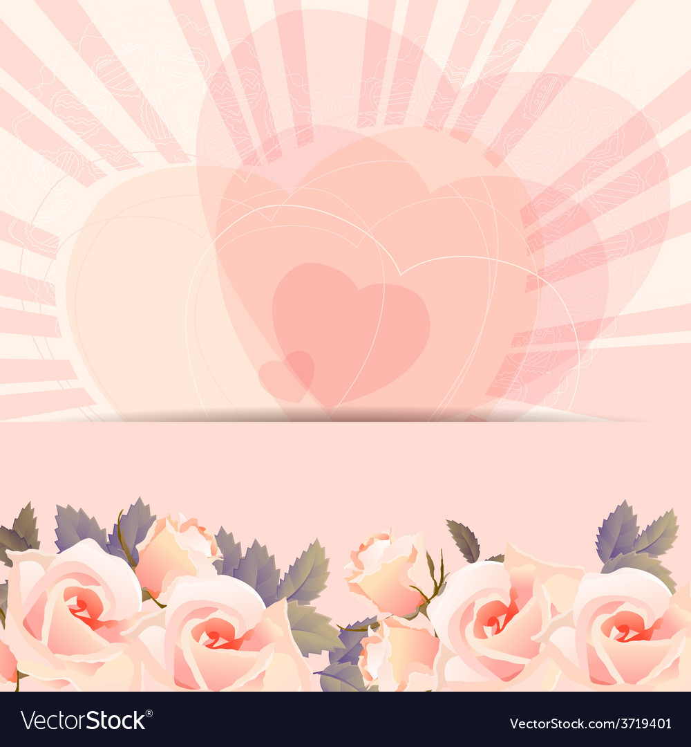 Background frame with bunch of roses vector | Price: 1 Credit (USD $1)