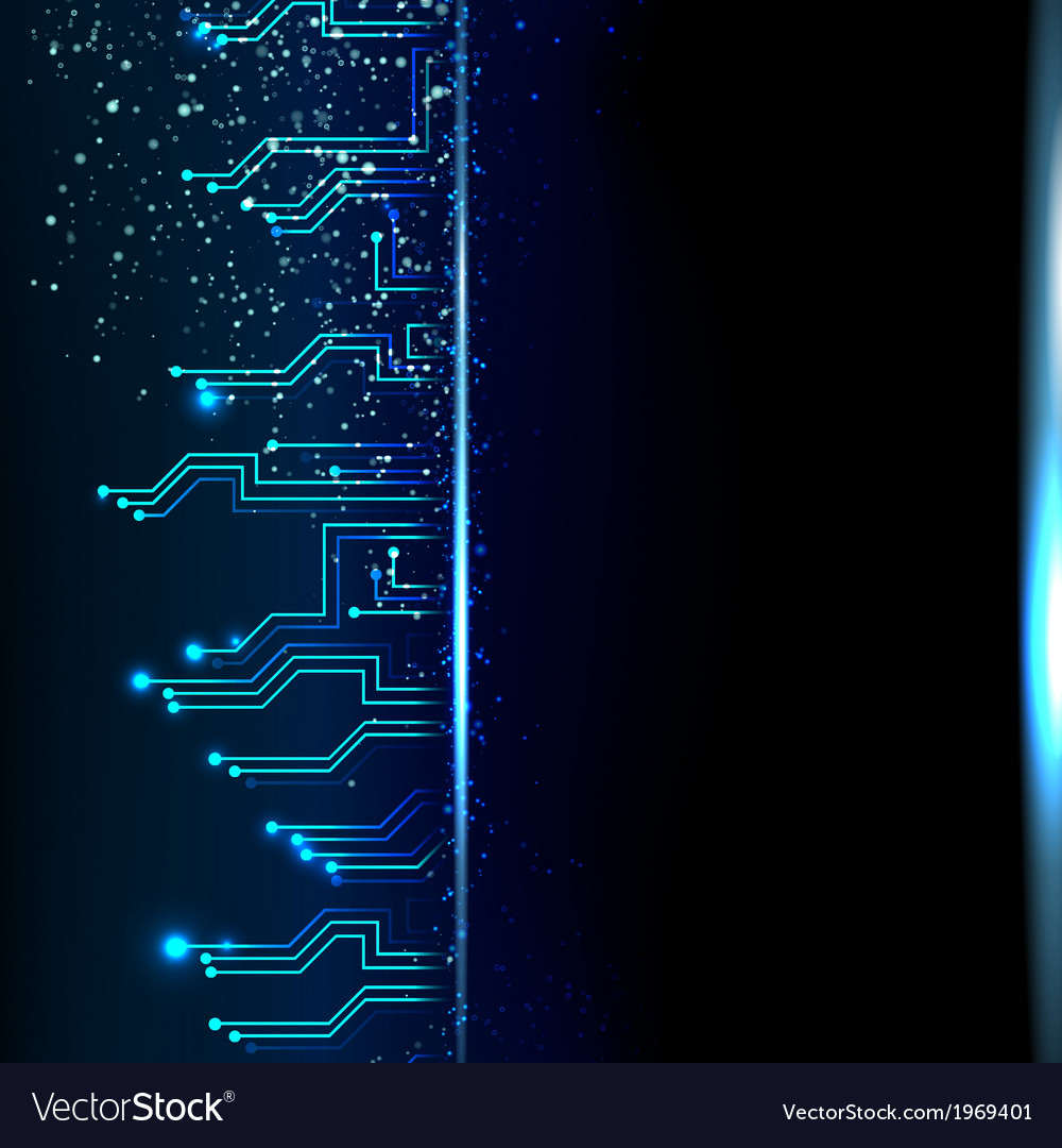 Circuit background with light effect vector | Price: 1 Credit (USD $1)