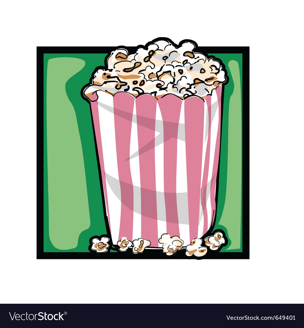 Classic popcorn vector | Price: 1 Credit (USD $1)