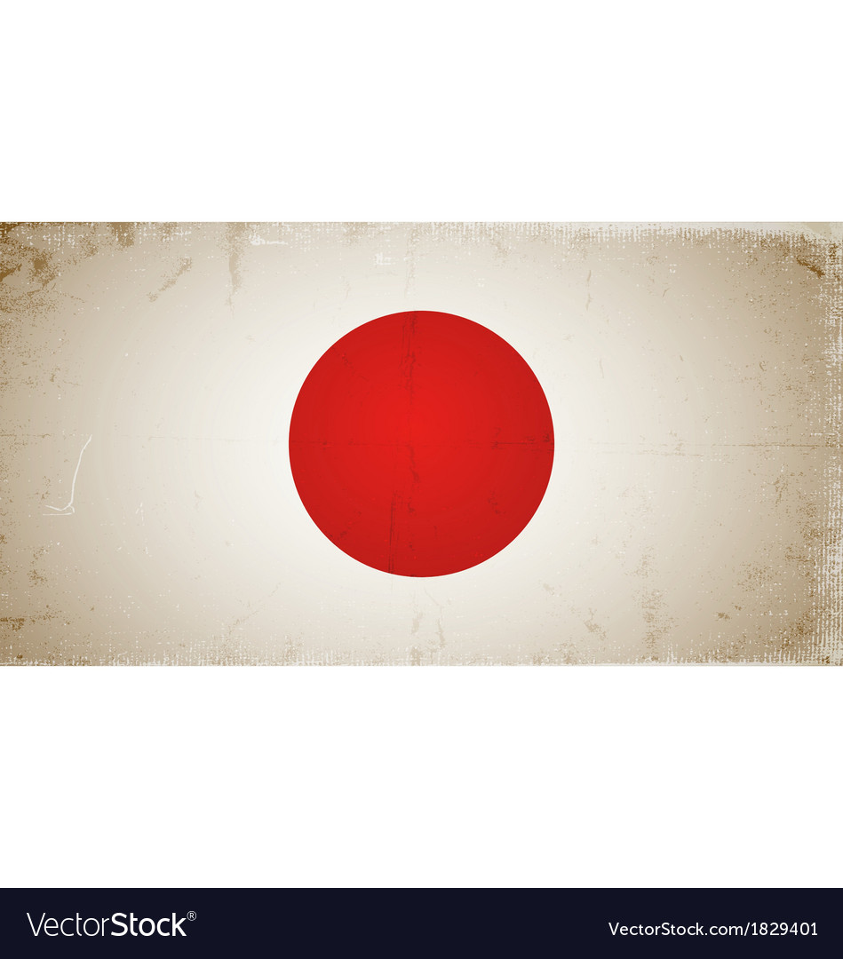 Grunge flags - japan vector | Price: 1 Credit (USD $1)