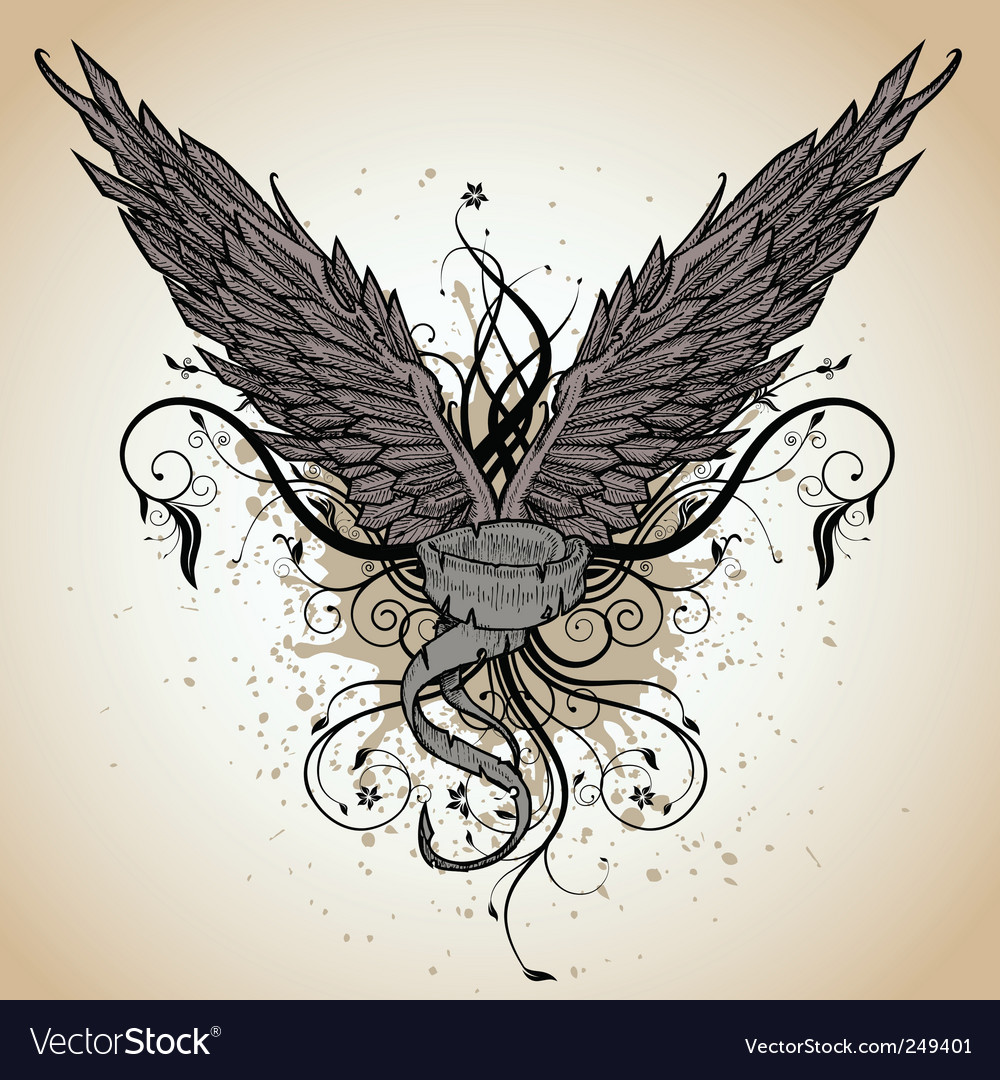 Grunge wing vector | Price: 1 Credit (USD $1)