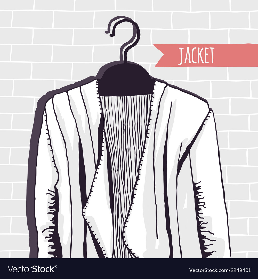 Jacket brick wall vector | Price: 1 Credit (USD $1)