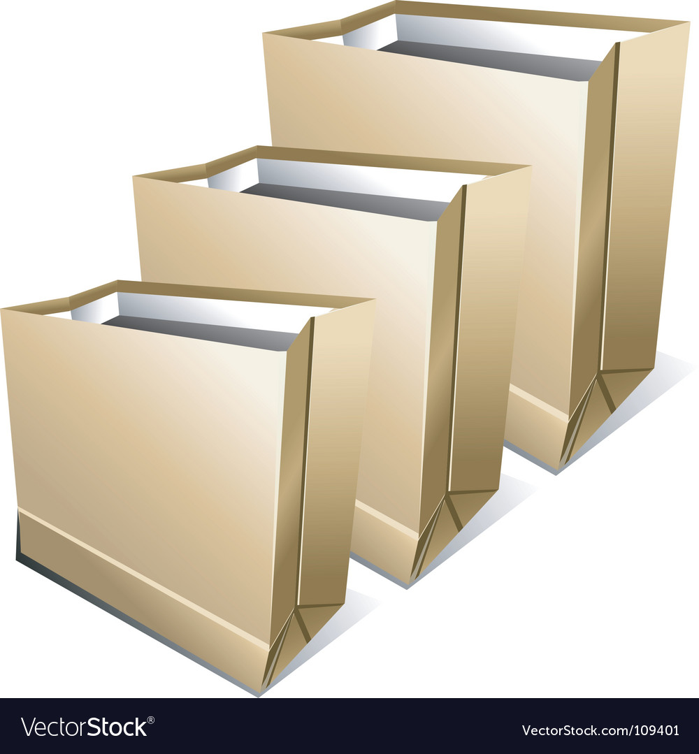 Paper packages vector | Price: 1 Credit (USD $1)