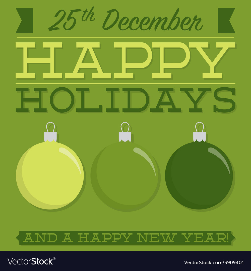Retro typographic bauble card in format vector | Price: 1 Credit (USD $1)