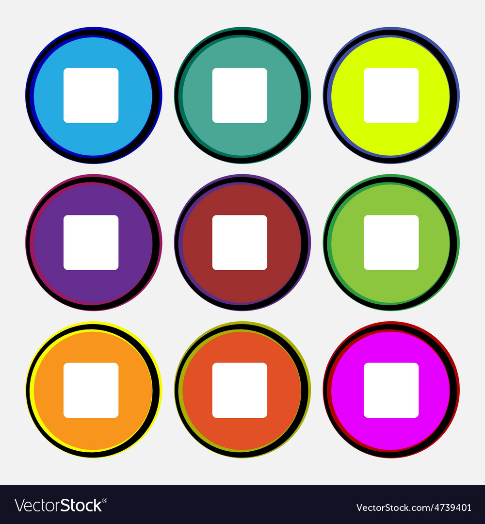 Stop button vector | Price: 1 Credit (USD $1)