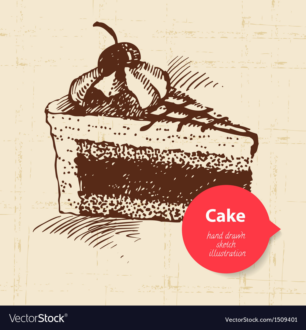 Vintage sweet cake background with color bubble vector | Price: 1 Credit (USD $1)