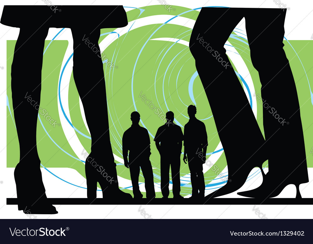 Business silhouettes vector   Price: 1 Credit (USD $1)