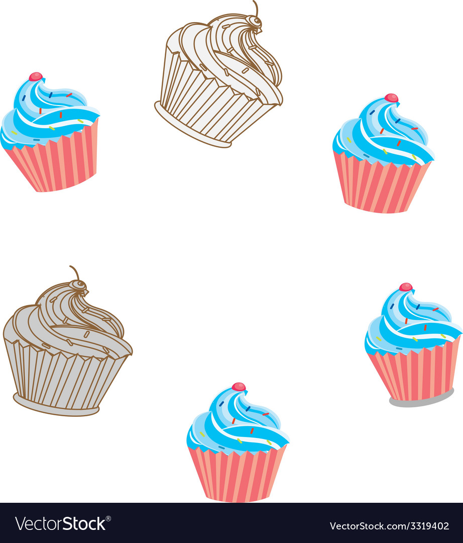 Capcake vector | Price: 1 Credit (USD $1)