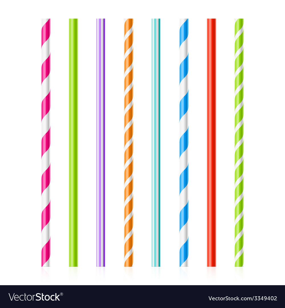 Colorful drinking straws vector | Price: 1 Credit (USD $1)