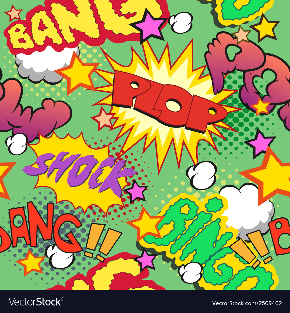 Comic book explosion pattern vector | Price: 1 Credit (USD $1)