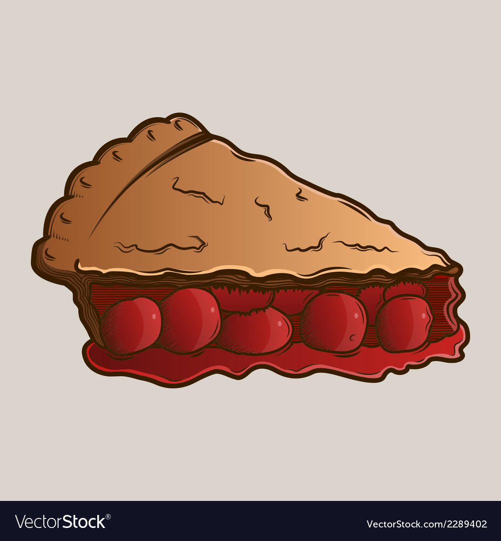 Detailed graphic cherry pie vector | Price: 1 Credit (USD $1)