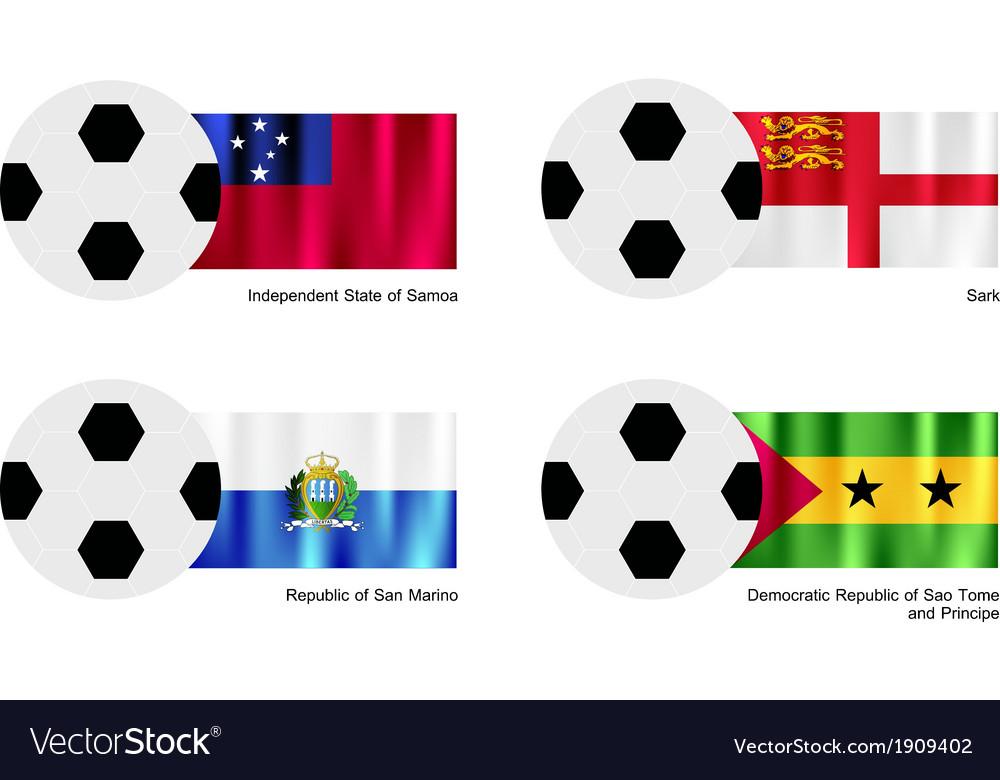 Football with samoa sark san marino and sao tome vector | Price: 1 Credit (USD $1)