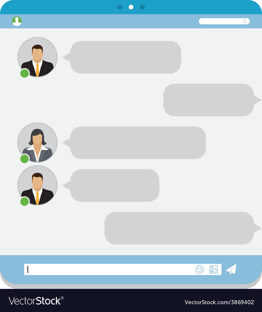 Group chat vector | Price: 1 Credit (USD $1)
