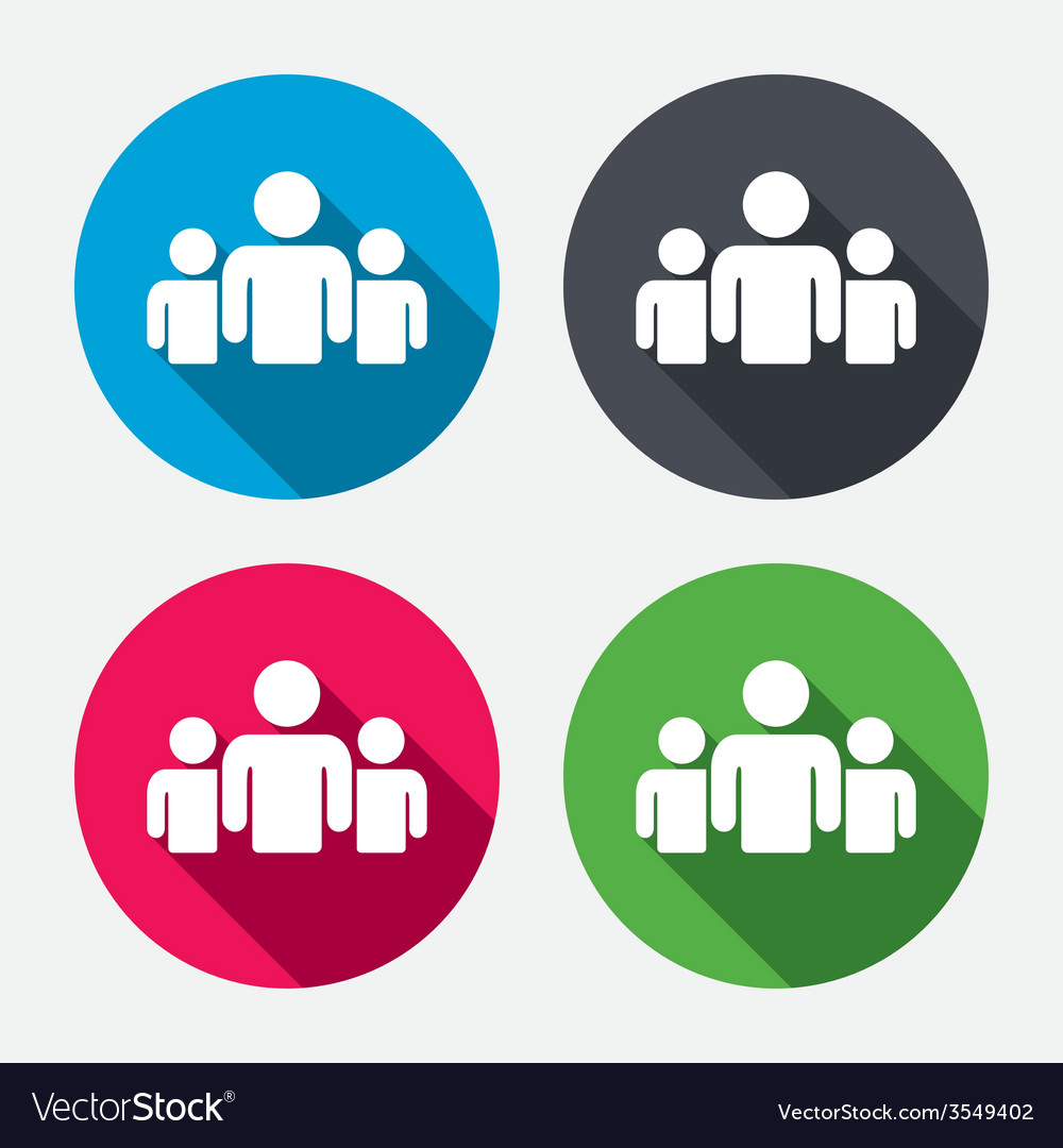 Group of people sign icon share symbol vector   Price: 1 Credit (USD $1)