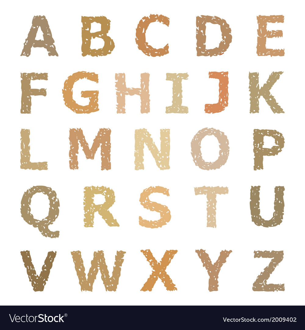 Grunge alphabet vector | Price: 1 Credit (USD $1)