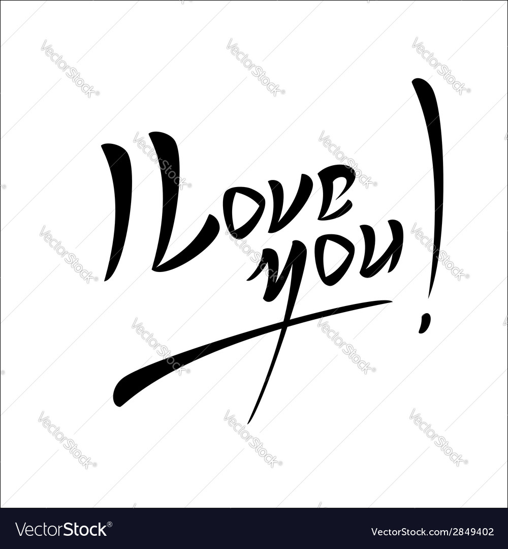 Love lettering handmade calligraphy vector | Price: 1 Credit (USD $1)