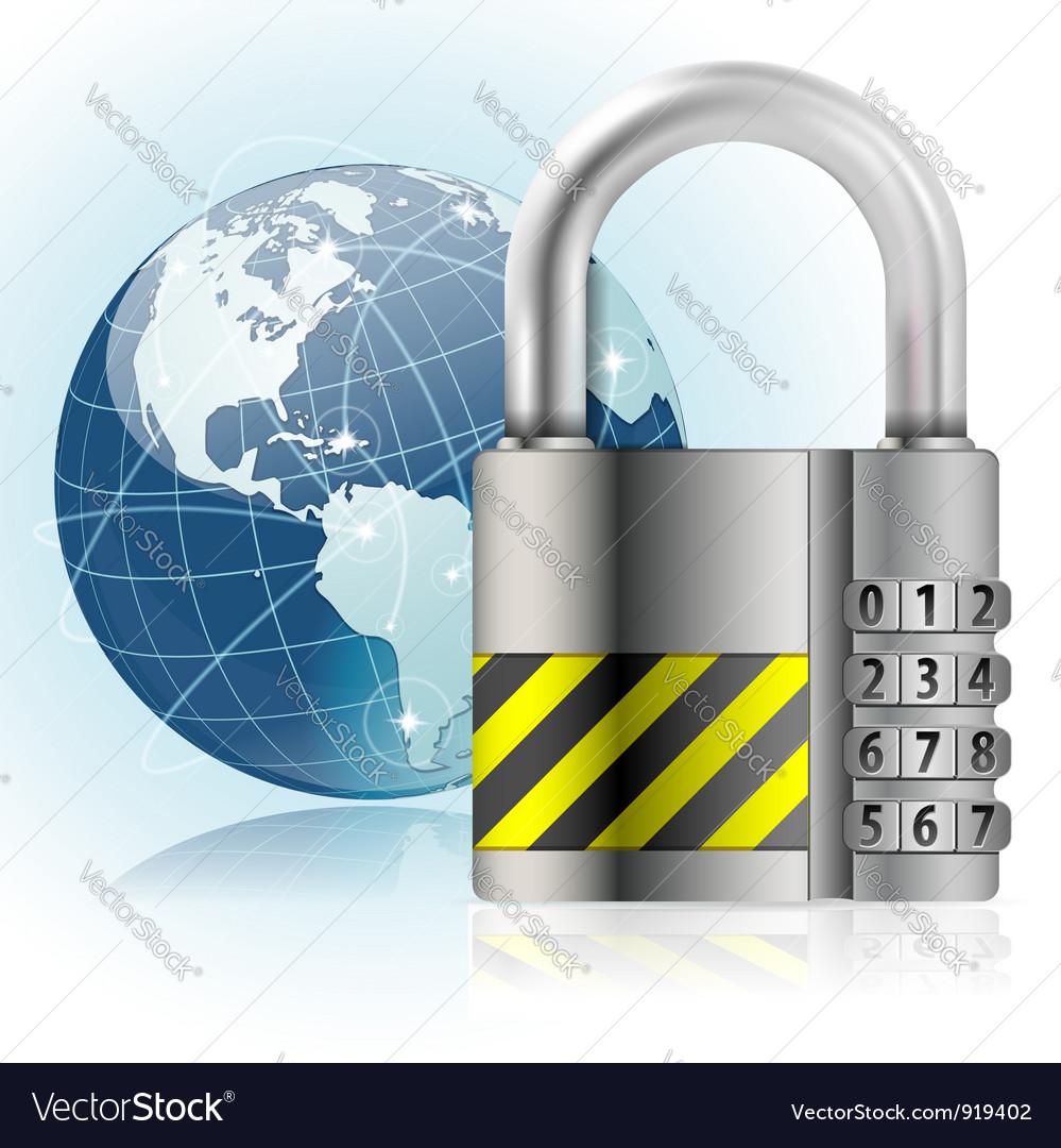 Padlock safety vector | Price: 3 Credit (USD $3)