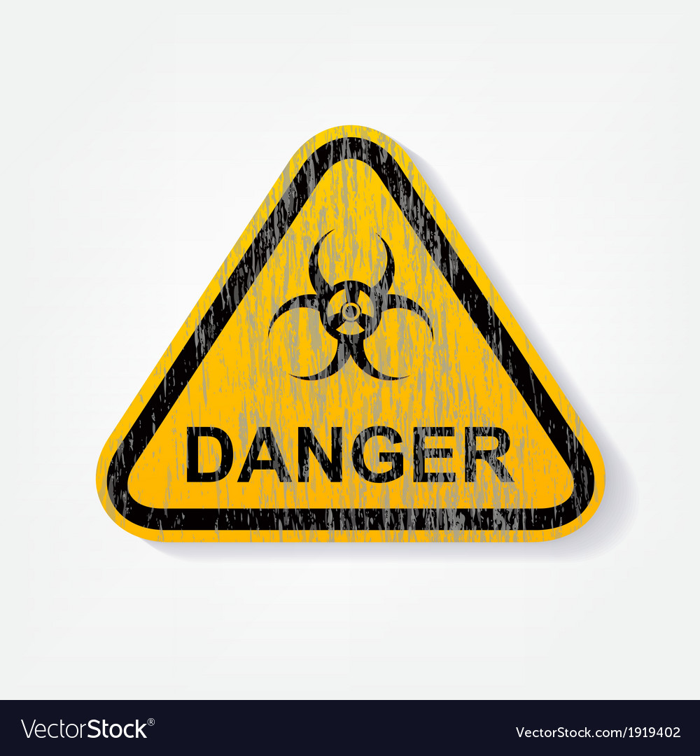 Radiation warning sign vector | Price: 1 Credit (USD $1)