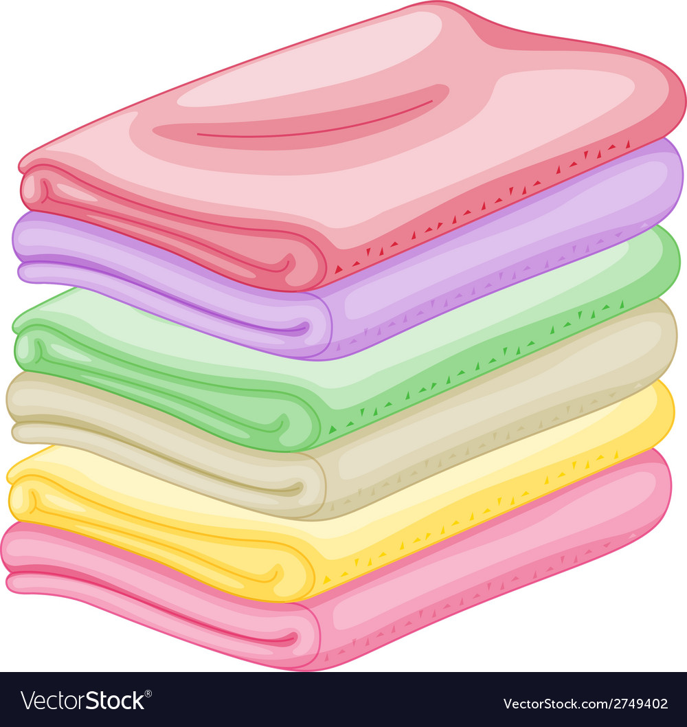 Stack of towels vector | Price: 1 Credit (USD $1)
