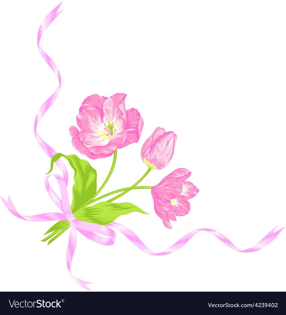 Tulips bouquet vector | Price: 1 Credit (USD $1)