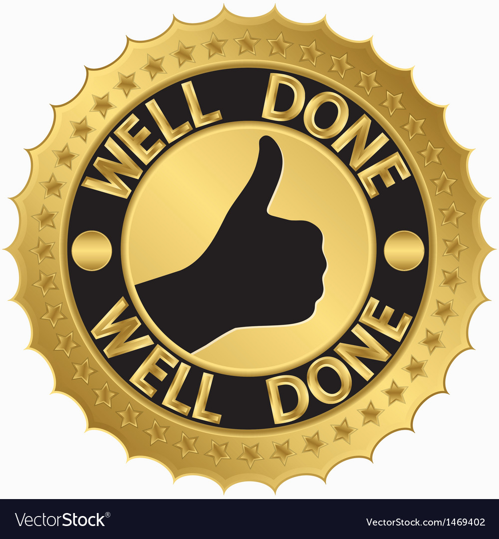 Well done stamp vector | Price: 1 Credit (USD $1)
