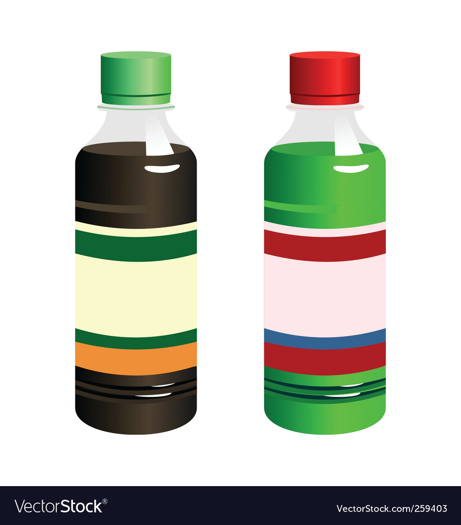 Bottles with blank label vector | Price: 1 Credit (USD $1)