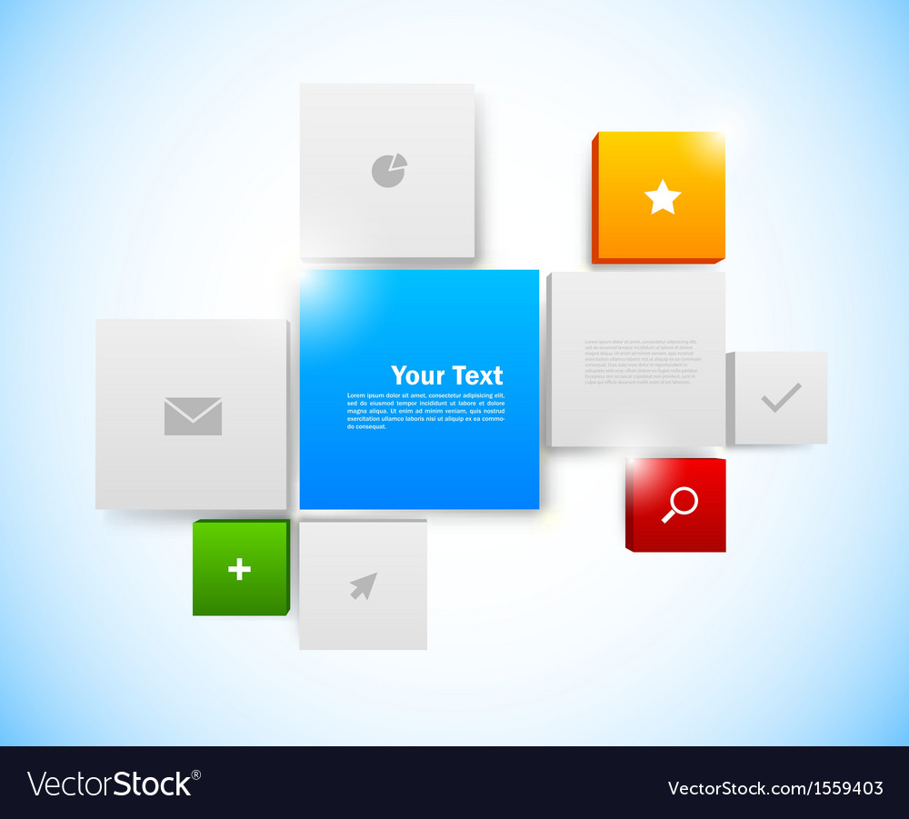 Design of tiled interface vector | Price: 1 Credit (USD $1)