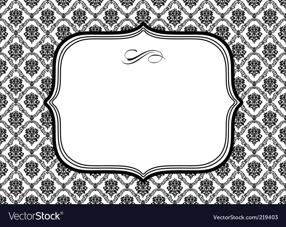 Diamond pattern frame vector | Price: 1 Credit (USD $1)