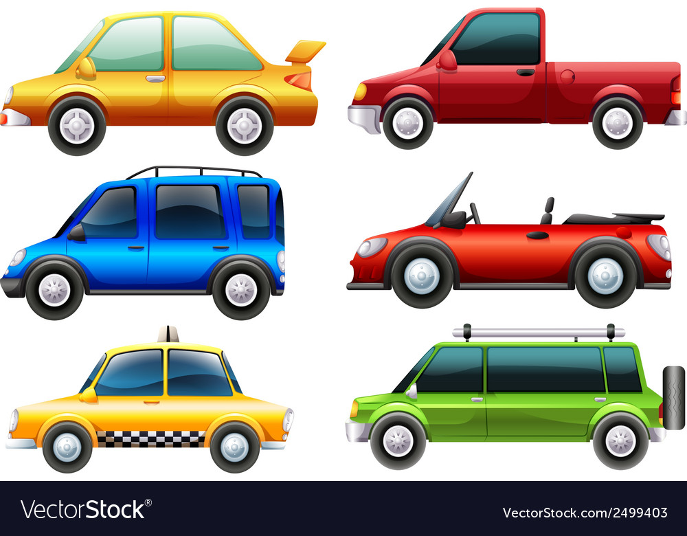 Different types of cars vector | Price: 1 Credit (USD $1)