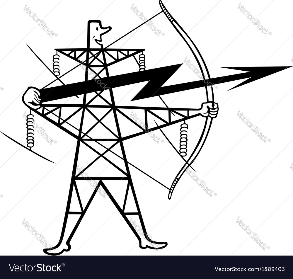 Electric power transmission vector | Price: 1 Credit (USD $1)