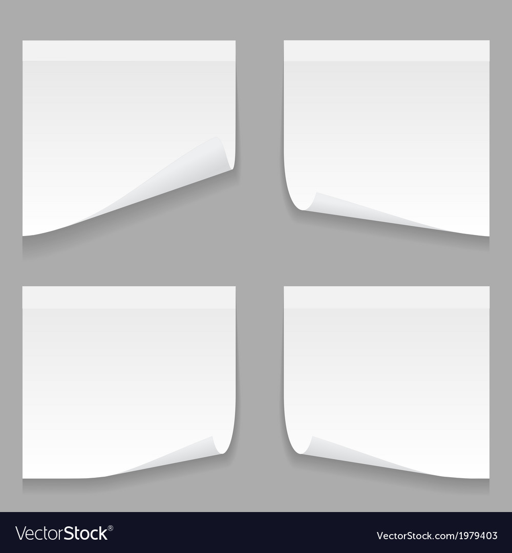 Gray stick note set vector | Price: 1 Credit (USD $1)