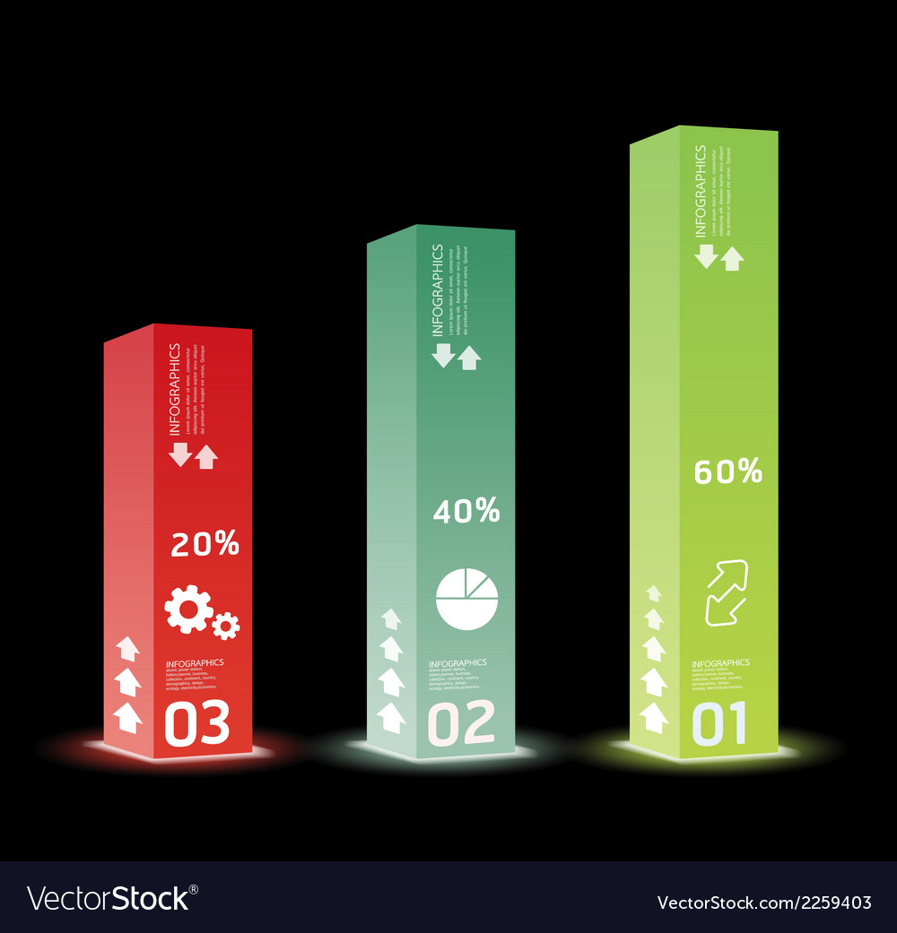 Infographic template modern box design minimal vector | Price: 1 Credit (USD $1)