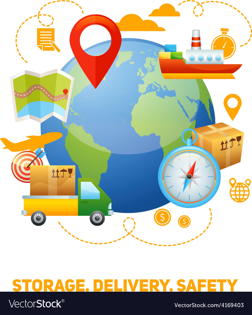 Logistic global concept design vector | Price: 1 Credit (USD $1)
