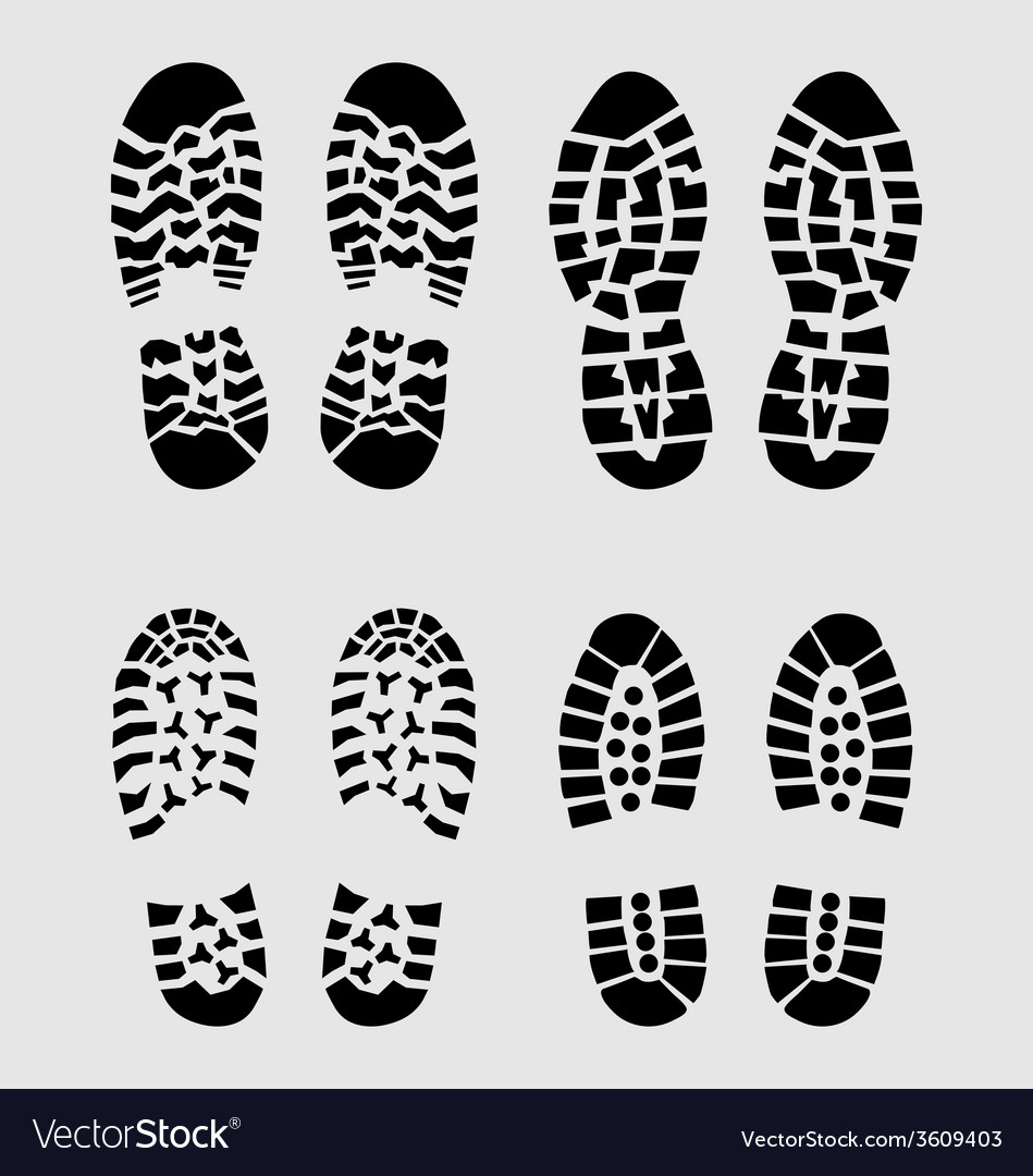 Prints of shoes vector | Price: 1 Credit (USD $1)
