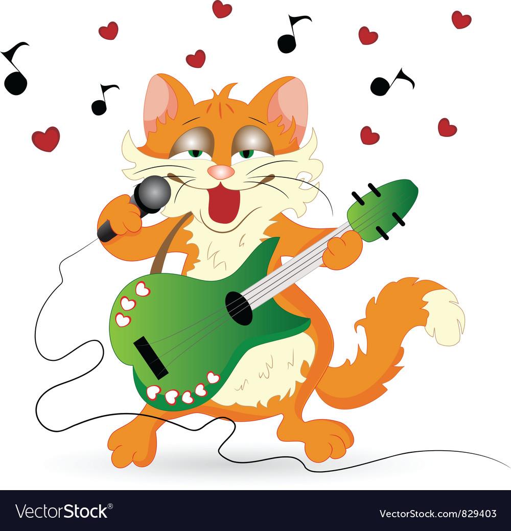 Romantic cat vector | Price: 3 Credit (USD $3)