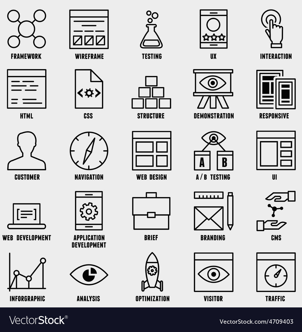 Set of seo and internet service icons - part 1 vector | Price: 1 Credit (USD $1)