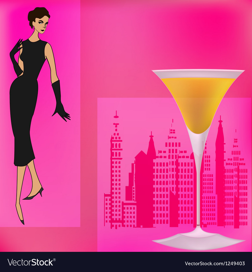 Vintage cocktails vector | Price: 1 Credit (USD $1)