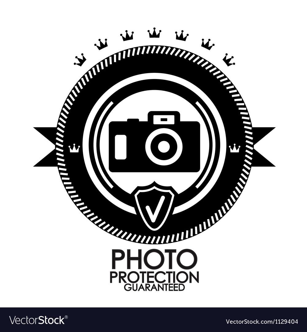 Black retro vintage label  tag  badge  photo vector | Price: 1 Credit (USD $1)