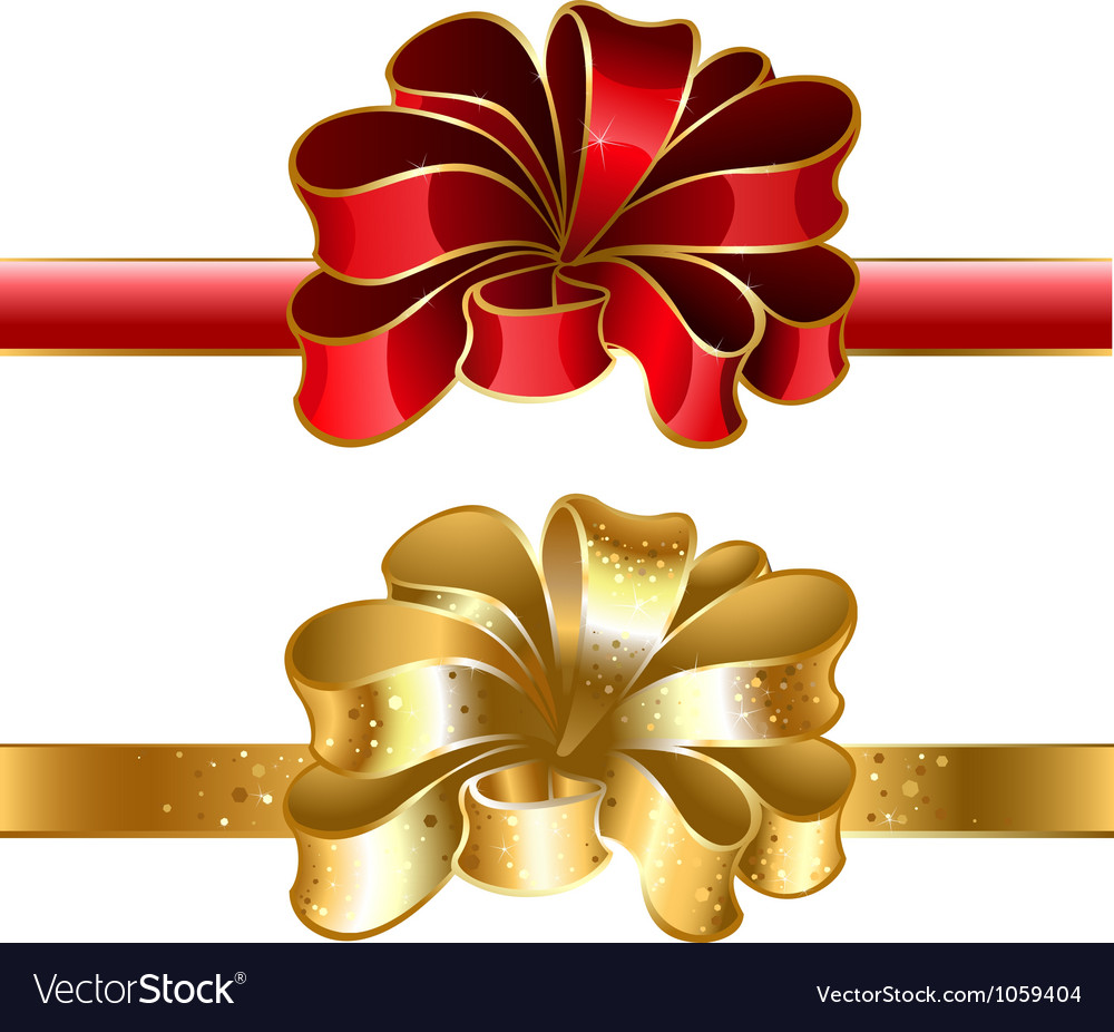 Festive bow vector | Price: 1 Credit (USD $1)
