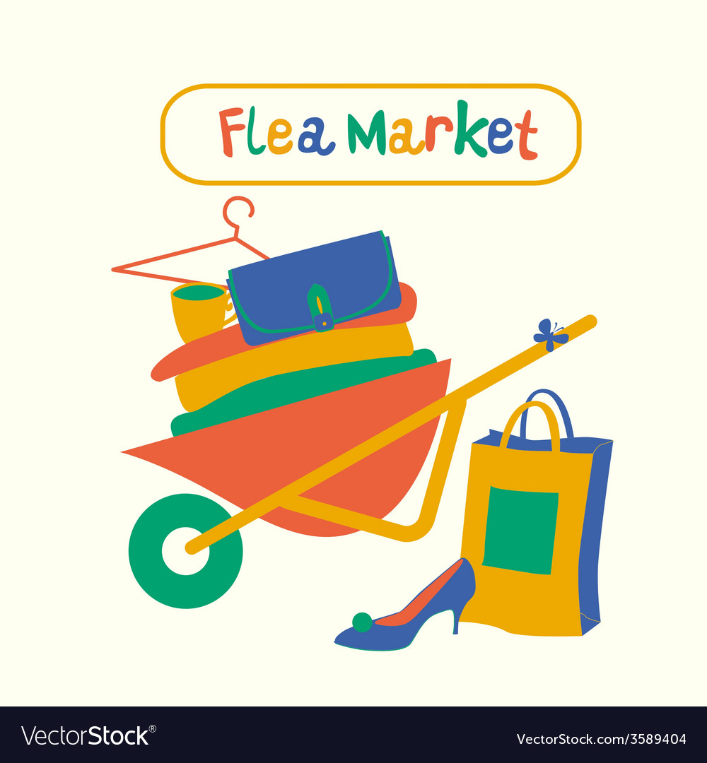 Flea market vector | Price: 1 Credit (USD $1)