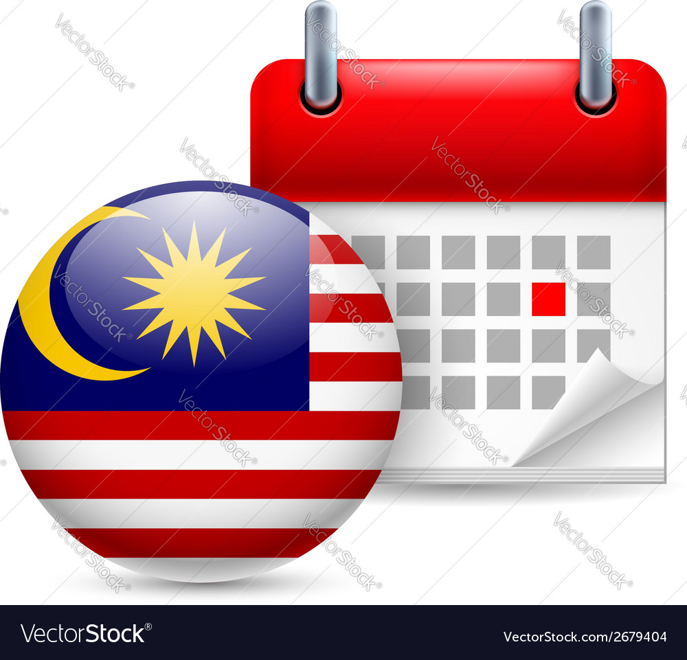 Icon of national day in malaysia vector | Price: 1 Credit (USD $1)