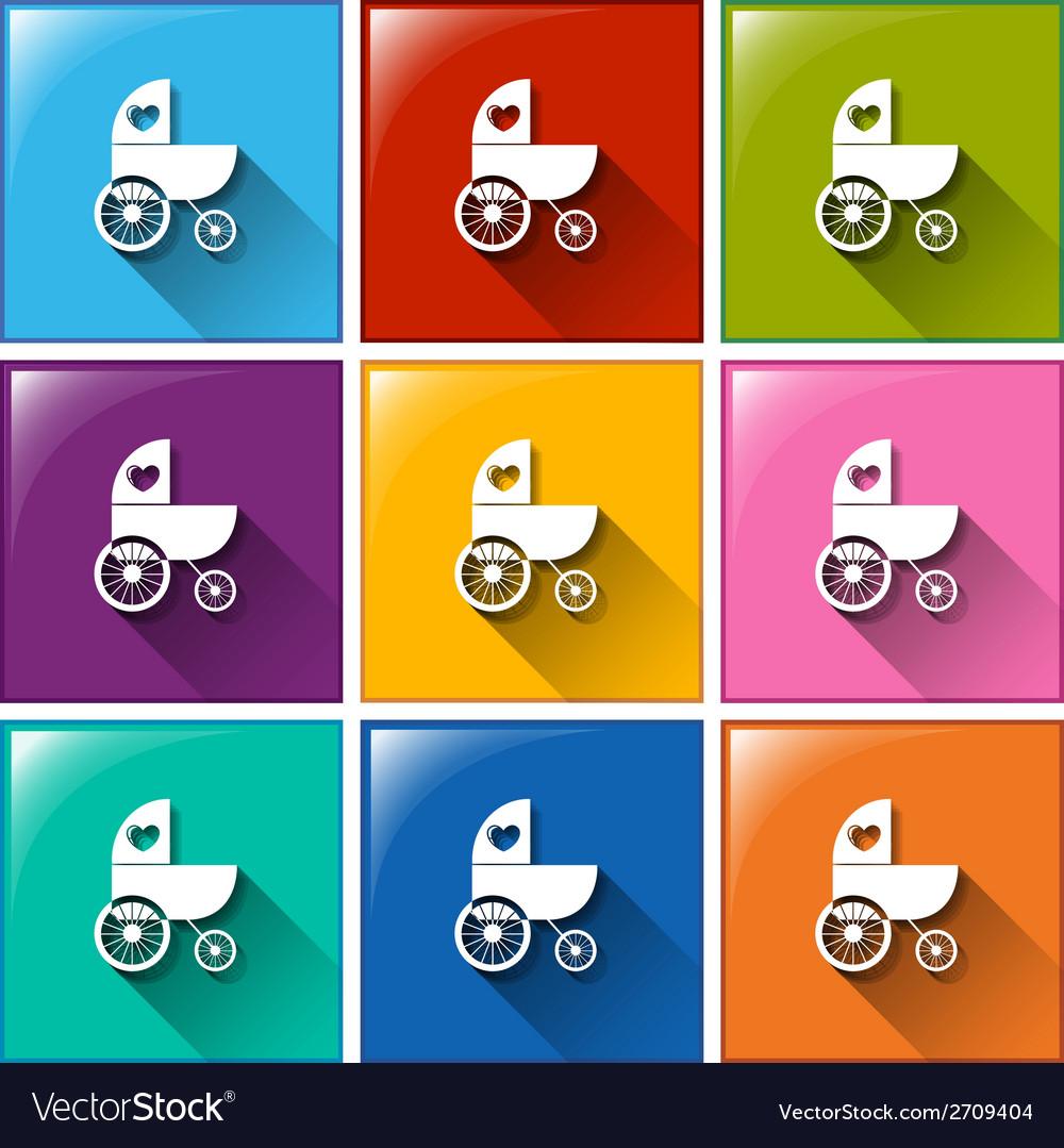 Improvised vehicle icons vector | Price: 1 Credit (USD $1)