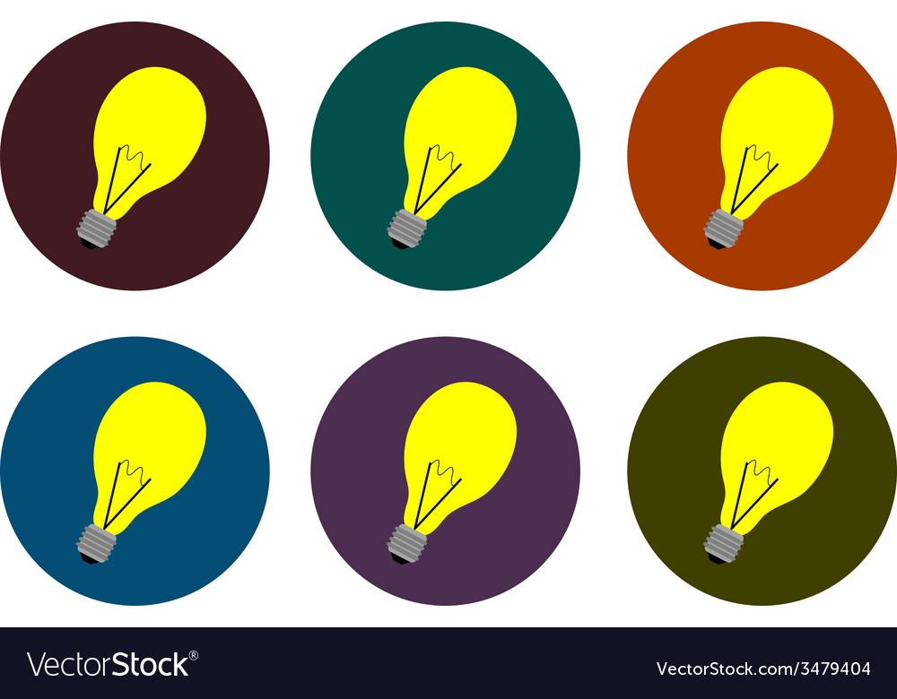 Lamp icon set vector | Price: 1 Credit (USD $1)