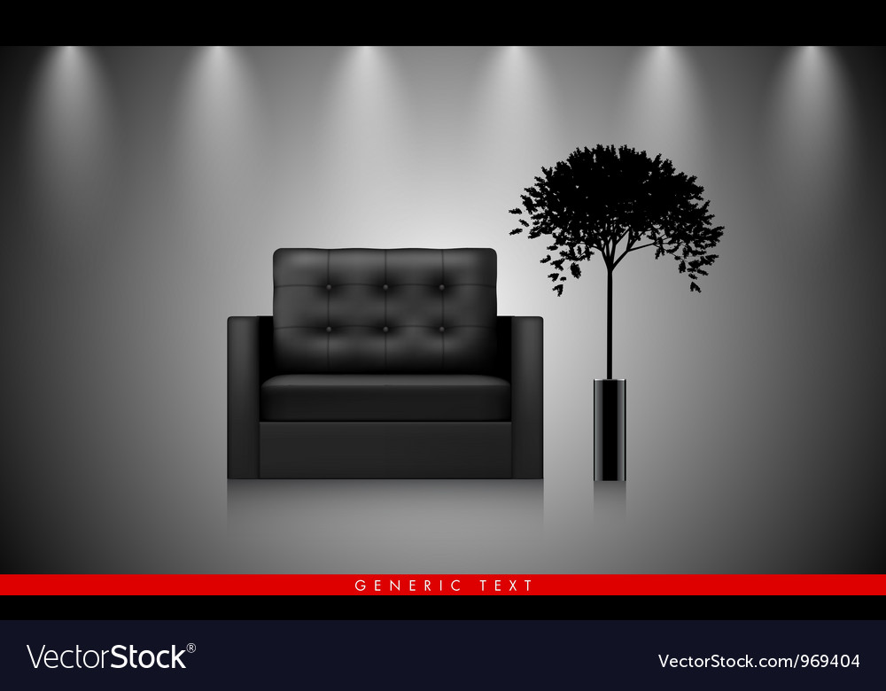 Modern interior background vector | Price: 1 Credit (USD $1)