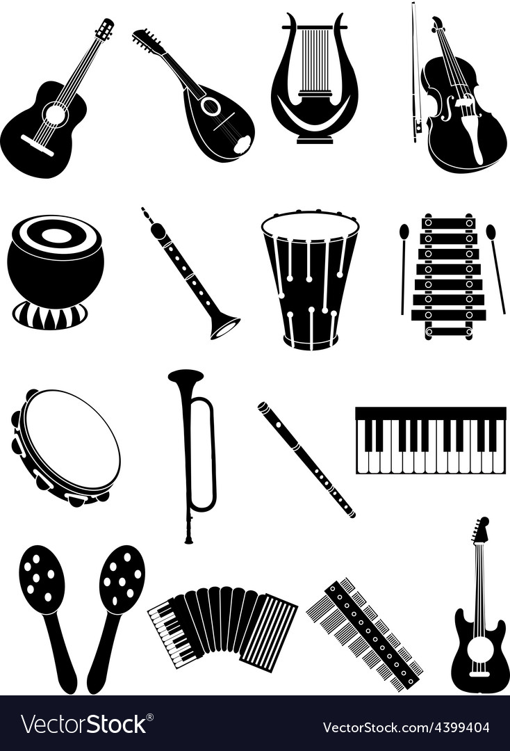 Music instruments icons set vector | Price: 3 Credit (USD $3)