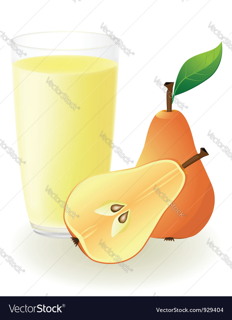 Pear juice vector | Price: 1 Credit (USD $1)
