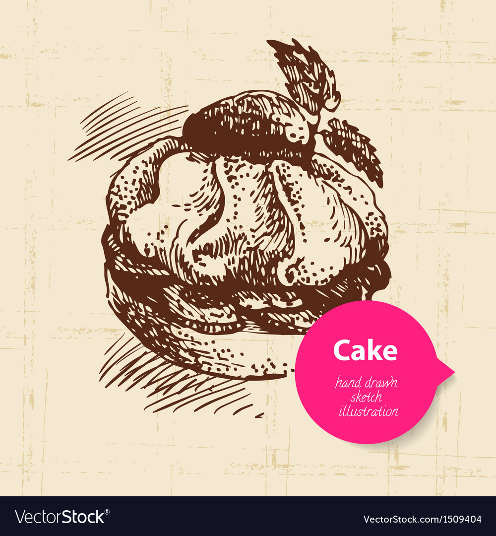 Vintage sweet cake background with color bubble vector   Price: 1 Credit (USD $1)