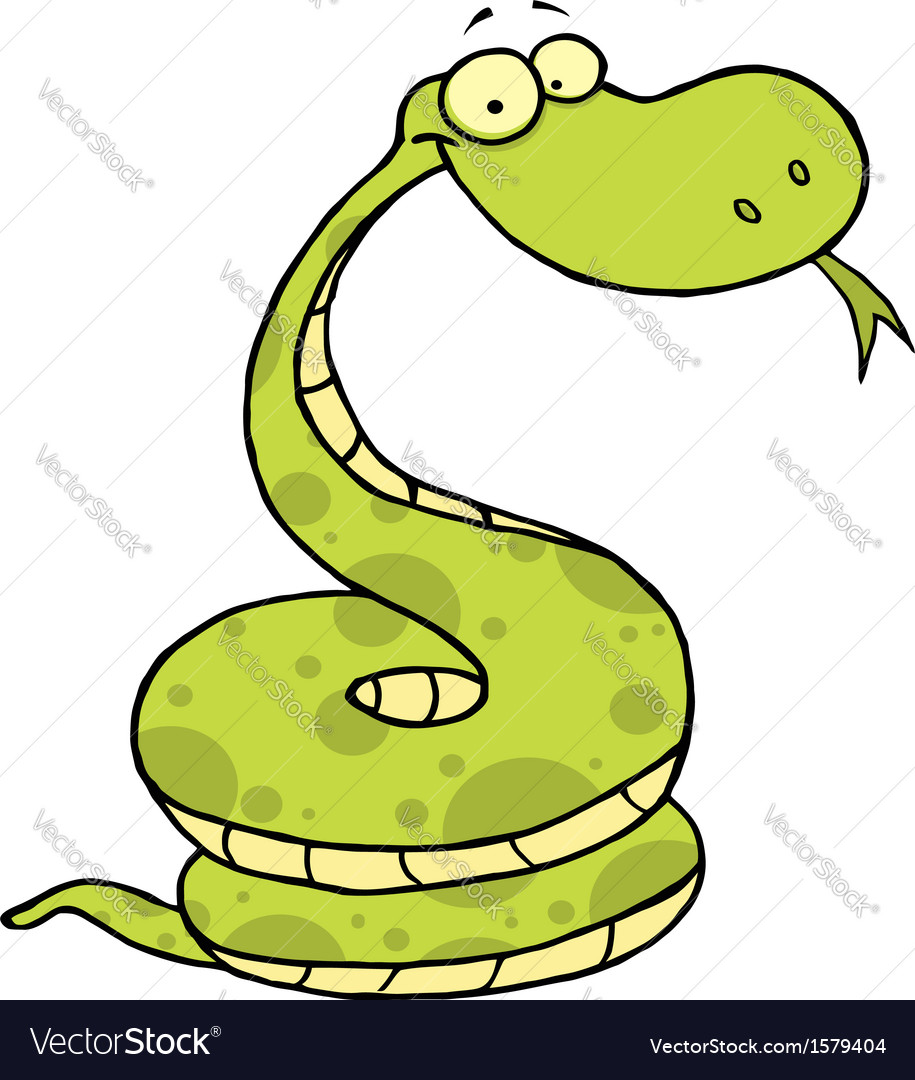 Viper cartoon vector | Price: 1 Credit (USD $1)