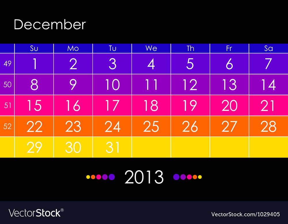 2013 december vector | Price: 1 Credit (USD $1)