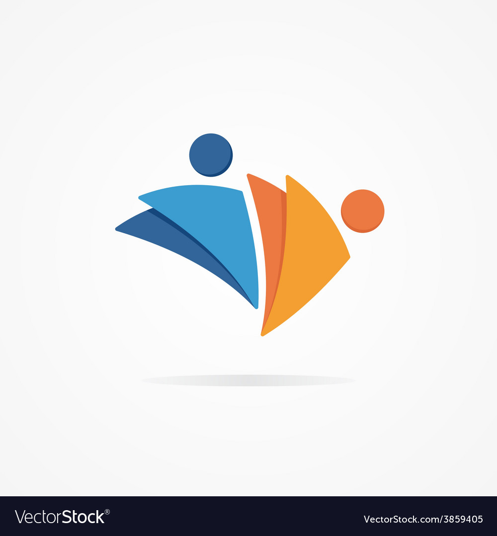 Abstract human logo vector